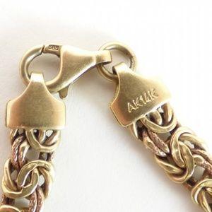 Jewelry - 14k Yellow Gold Byzantine Chain bracelet
